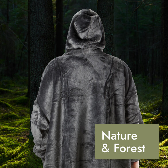 Hoodie Blanket for Nature and Forrest