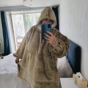 Brown Hoodie Blanket