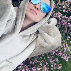 Hoodie Blanket and Flowers