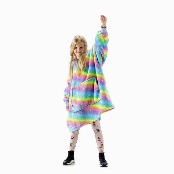 NOXNOX Hoodie Blanket Kids Rainbow