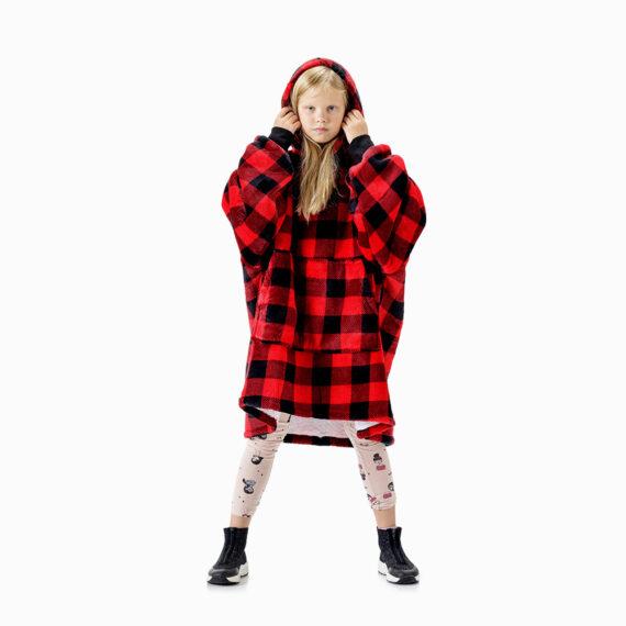 NOXNOX Hoodie Blanket Kids Red