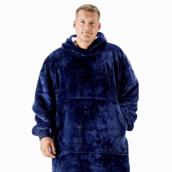 NOXNOX Hoodie Blanket Men Blue