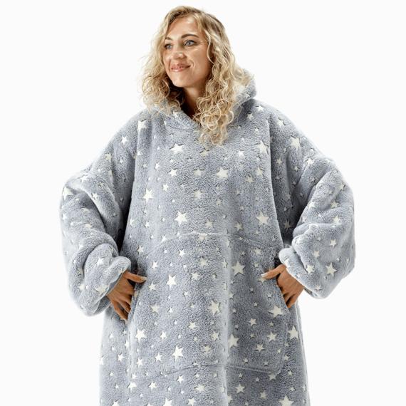NOXNOX Hoodie Blanket Woman Stars